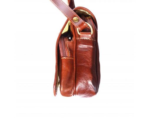 brown cross body bag in real leather Ecaterina for women