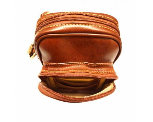 tan cross body bag in leather Ecaterina for woman