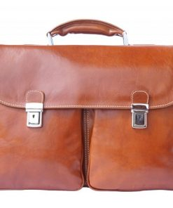 Genuine leather business briefcase Gerardo Colour tan for women