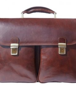 Genuine leather business briefcase Gerardo Colour dark brown for men