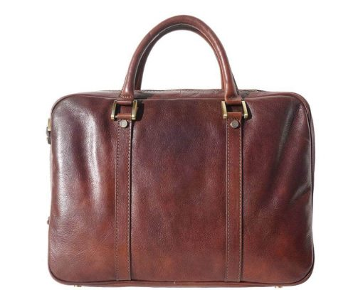 brown business bag in real leather Claudia man