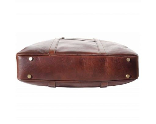 brown business bag in leather Claudia unisex