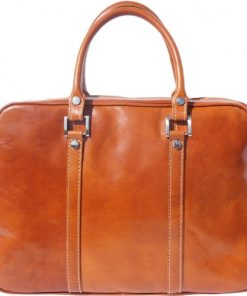 Business briefcase in genuine leather bag Oscar Colour tan for women