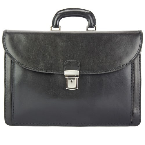 black business briefcase in genuine leather Norberto man