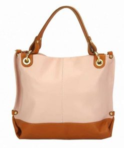 pink tan bag from italy in leather