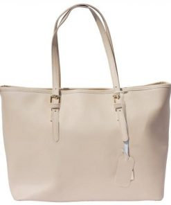 Bag Giuditta in saffiano genuine leather Colour light taupe for women