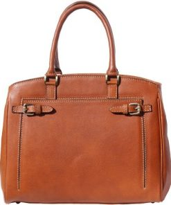 Handbag in smooth genuine leather Onella Colour tan for women
