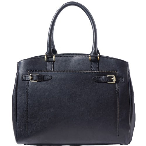 Shoulder bag in smooth leather Onella Colour black for women