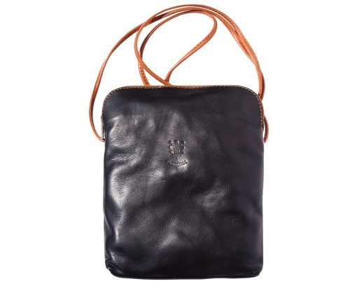dark brown cross body bag in leather Romanita for woman