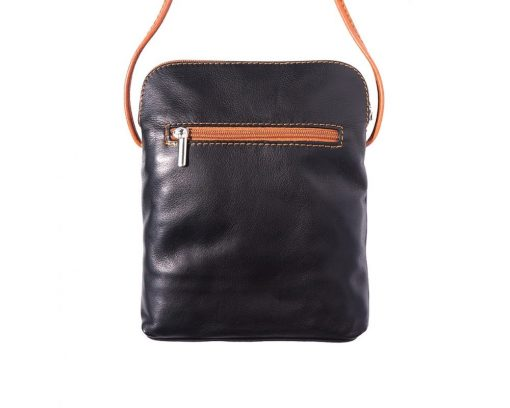 dark brown cross body bag in genuine leather Romanita for woman