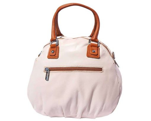 white tan bag in leather Consuelo for women