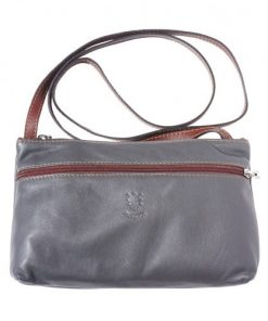 Small bag Zenaide in genuine leather Colour dark grey brown for women