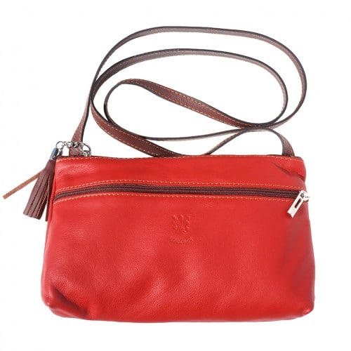 Small bag Zenaide in genuine leather Colour red brown for women