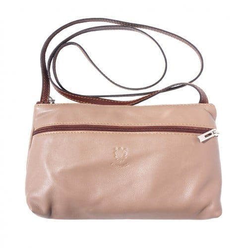 Small bag Zenaide in genuine leather Colour light taupe brown for women