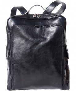 buy italian Big unisex backpack in genuine leather Aldo Colour black for men