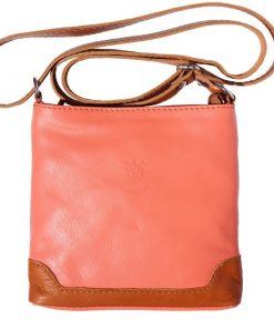 salmon pink color cross body bag Silvia for woman