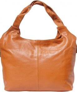Shoulder bag in cow genuine leather Egeria colour tan for women