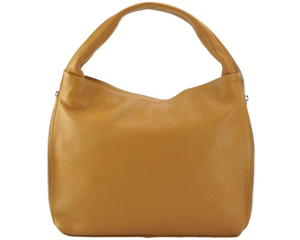 tan bag in genuine leather from italy masha