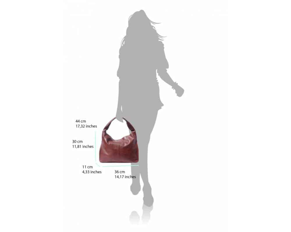 masa red shoulder bag from italy