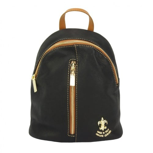 black tan backpack Elena woman