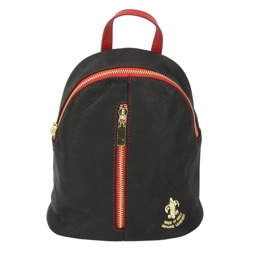 black red backpack Elena woman