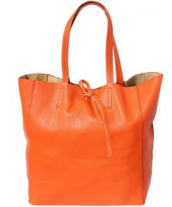 handbag shopping bag Godiva in genuine leather colour orange for women