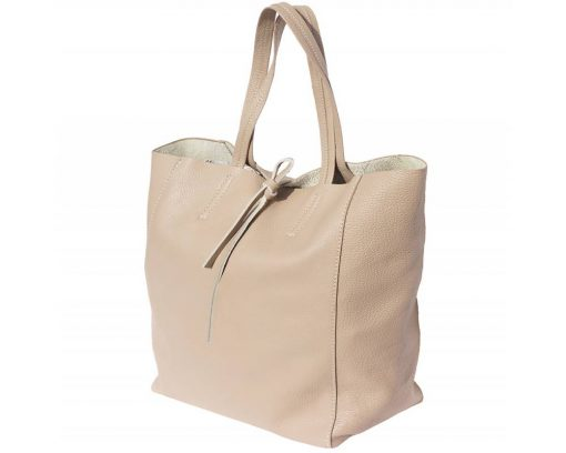 light taupe bag in soft leather rosalina women
