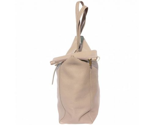light taupe purse in soft leather rosalina women
