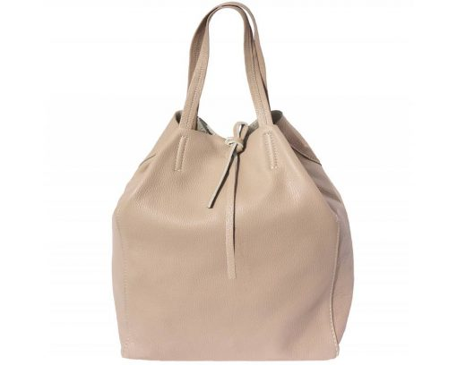 light taupe purse in genuine leather rosalina women