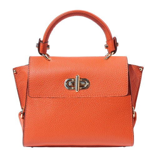 Single handle mini bag in genuine leather Eldora Colour orange for women
