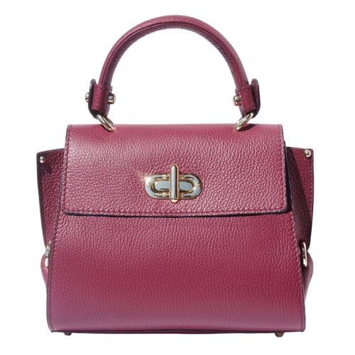 Single handle mini bag in genuine leather Eldora Colour bordeaux for women