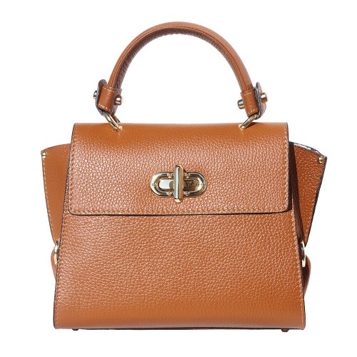 Single handle mini bag in genuine leather Eldora Colour tan for women