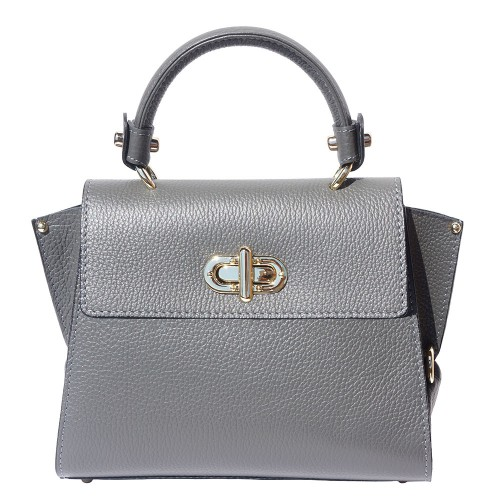 Single handle mini bag in genuine leather Eldora Colour grey for women