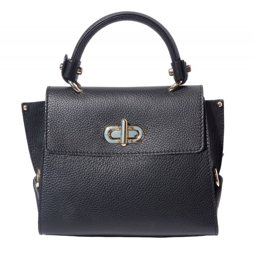 Single handle mini bag in genuine leather Eldora Colour black for women