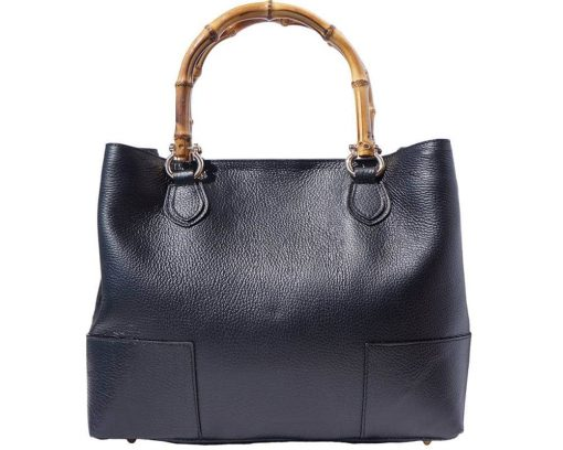 black bag with lining in suede leather from genuine leather for woman