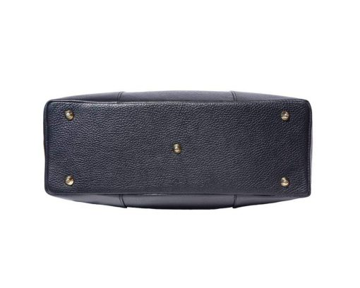 black bag with lining in suede leather for women