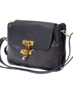 Cross body bag Viridiana in genuine leather colour black for women