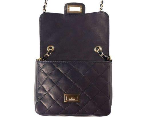 black bag in quilted leather Louisse for women