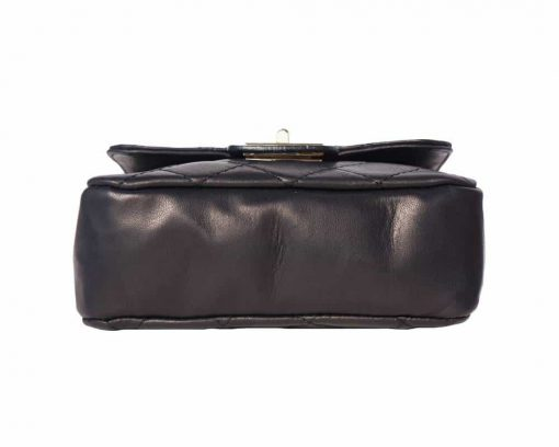 black bag in quilted leather Louisse