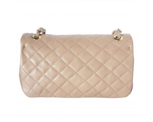 light taupe bags in quilted real leather with lining Marilena women