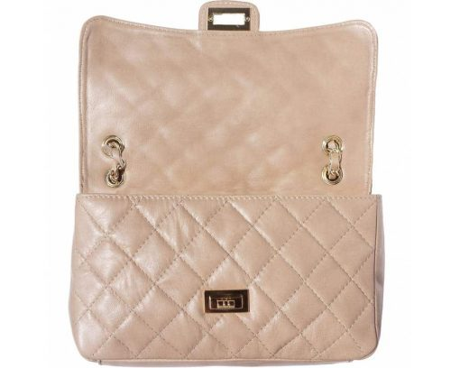 light taupe bags in quilted genuine leather with lining Marilena women