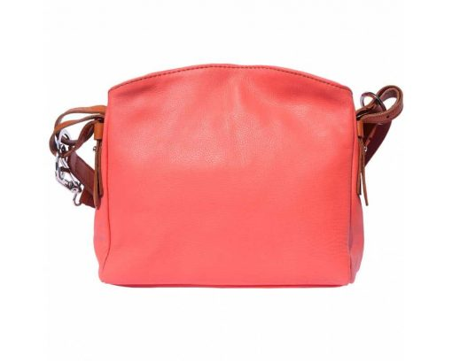 pink shoulder bag in leather Beatrice for women