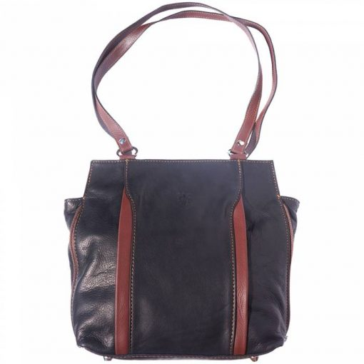 black brown shoulder bag arancia in soft leather for woman