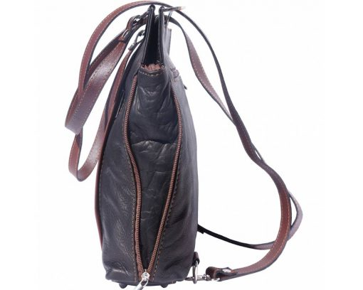 black brown shoulder bag arancia in leather for woman