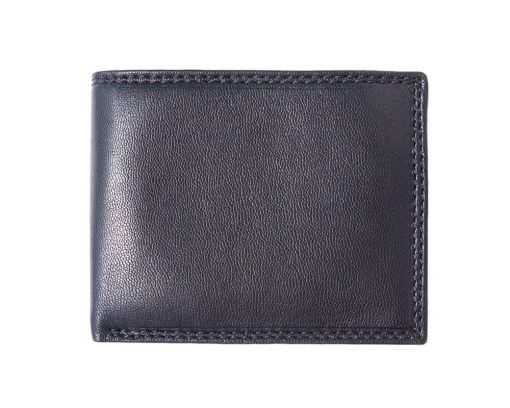 black wallet in soft leather Sabin for men