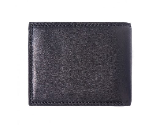 black wallet in real genuine leather Sabin