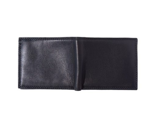 black wallet in natural leather Sabin for men