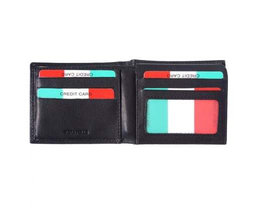 black wallet in genuine leather Sabin for man