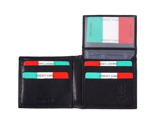 black wallet in leather Sabin for men
