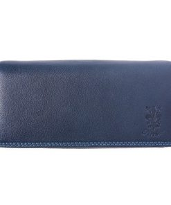Genuine leather wallet Senta colour dark blue for women